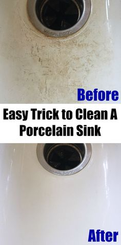 This tutorial on cleaning a porcelain sink is amazing! I cannot believe how great my porcelain sink looks. Super easy and works better than any store bought cleaner I've ever tried! #cleaningporcelain #porcelainsink #cleaningporcelainsink #cleaning #cleaningtip