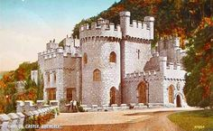 cartão postal de Gwrych Castelo de Abergele