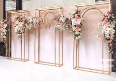 Wedding Backdrop Wedding Backdrop Glitter backdrop with steel frame attached to flowers . Wedding Backdrop Design, Wedding Stage Design, Wedding Reception Backdrop, Wedding Stage Decorations, Engagement Decorations, Backdrop Decorations, Ceremony Backdrop, Backdrops, Wedding Mandap