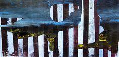 Striped view - Blue landscape