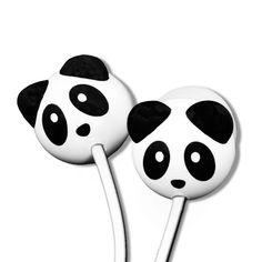 Panda Mega Bass Earphones Ear Sound, Panda Gifts, Best Headphones, Pineapple, Cool Designs, Crystals, Bass, School, Music