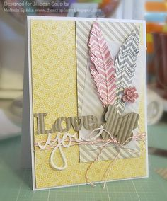 Love You Card by Melinda Spinks via Jillibean Soup Blog