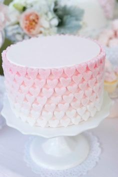 sugar heart ombre pink cake by cake envy: pinned with permission