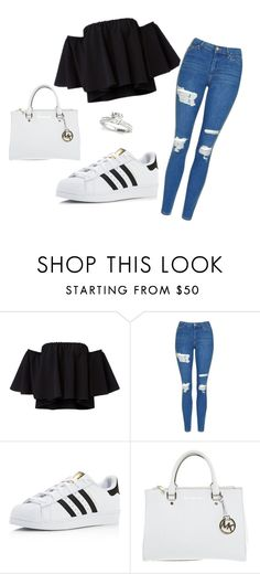 """gewoon mooi"" by k-hof ❤ liked on Polyvore featuring Topshop, adidas and Michael Kors"