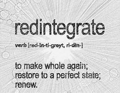 Redintegrate