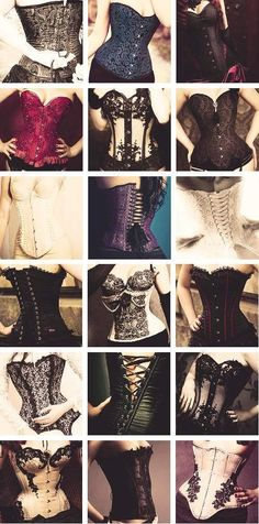I want them all!  www.pinterest.com/wholoves/corsets  #corsets