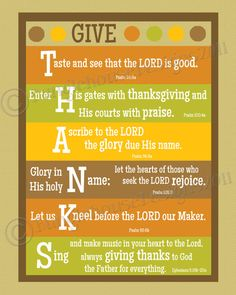 Thanksgiving scripture