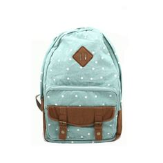 usd39.99/Sweet Cute White Tiny Dot Canvas Backpack