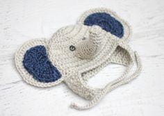 Elephant Crochet Hat | AllFreeCrochet.com