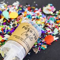 Push Pop Confetti for when the bride and groom leave the reception