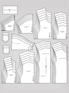 Jonatas Verly – Modelagem E Costura - Diy Crafts Sewing Patterns Free, Clothing Patterns, Sewing Tutorials, Free Sewing, Sewing Projects, Sewing Pants, Sewing Clothes, Sewing Shirts, Patron Vintage