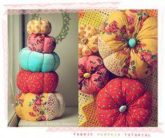 diy project: danielle's pretty fabric pumpkins – Design*Sponge Diy Pumpkin, Pumpkin Crafts, Fall Crafts, Holiday Crafts, Holiday Fun, Diy And Crafts, Pumpkin Pillows, Pumpkin Ideas, Easter Crafts