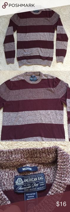 Men's Striped Sweater Sweater from American Rag, fairly thick, in great condition, barely worn! American Rag Sweaters Crewneck