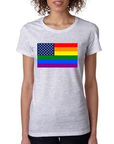 Women's T Shirt United States Gay Pride Flag Love Parade Tee