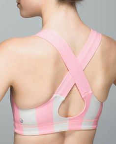Steep Stripe Bleached Coral Horizontal / Bleached Coral All Sport Bra