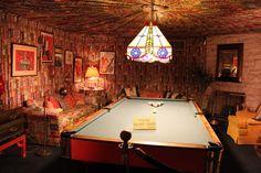 Graceland, Memphis, TN  The pool table room.