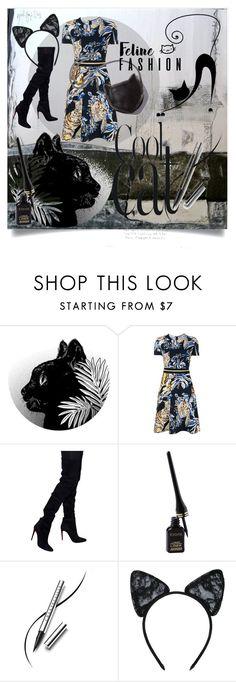 """Feline Fashion"" by kari-c ❤ liked on Polyvore featuring STELLA McCARTNEY, Balmain, Chantecaille, Maison Close and catstyle"