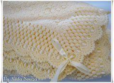 Manta http://artedebordar2012.blogspot.com.br/2015/04/conjunto-para-bebe-em-croche.html