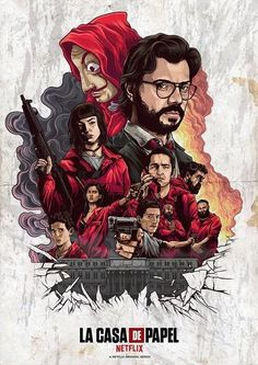 netflix movies Money Heist on Behance Hacker Wallpaper, Tumblr Wallpaper, Screen Wallpaper, Movie Poster Art, Poster Wall, Poster Prints, Movie Wallpapers, Cute Wallpapers, Cellphone Wallpaper