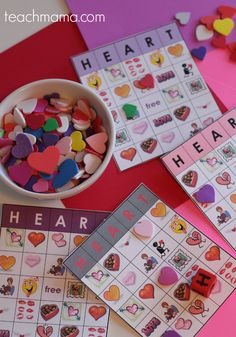 valentine's day heart bingo | super-easy and fun for home or class parties