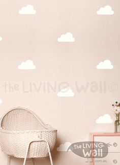 These sweet little clouds in removable vinyl wall decals are just the thing to…