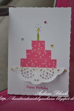 Handmade Cards by Archana: Happy Birthday!!