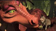 and yet still I'm wondering how Donkey and the dragon had sex. Burro Do Shrek, Shrek Donkey, Donkey And Dragon, Shrek Dragon, Disney Movies, Disney Pixar, Shrek Character, Shark Tale, Girl Cartoon