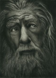 Gandalf Painting with carbon by MJ