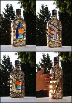 "Mosaic Bottle ""Dr. Love's Premium Elixir""   Flickr - Photo Sharing!"