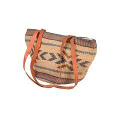 Raffia Bag w Leather Straps