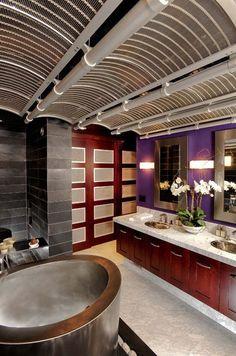 Modern Bathroom : Bathroom Ideas, Wash Room, Marble Countertop, Cararra Marble Counter, Asian Bathroom, Hot Tub Stainless Steel  Japanese St...
