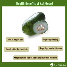 Health benefits of ash gourd #weightloss #skincare #hair #healthy #thefitglobal