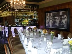 Private dining in the stylish Restaurant Bar 1650 with art deco bar