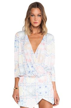 For Love & Lemons Ole Top in Tile Print from REVOLVEcloth