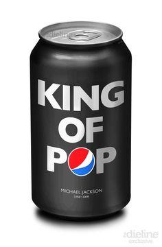 PEPSI design - dedicated to the King of Pop, Michael Jackson