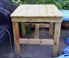 The shed and beyond.: Patio table made from pallets ... ...