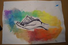 Feinleiner Dotwork art mit wasserfarben hintergrund# made by Wunderdings-Kathi Gmeis Watercolor Tattoo, Tattoos, Artist, Soapstone, Water Colors, Do Your Thing, Crafts, Stones, Do Crafts