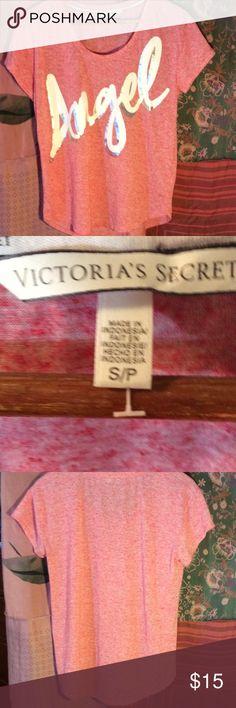 Victoria's Secret $6.75 when you bundle 4 Pink angel tee Victoria's Secret Tops Tees - Short Sleeve