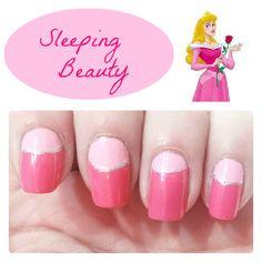 Sleeping Beauty Inspired Nails