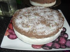 Semifrio de natas e mousse de chocolate