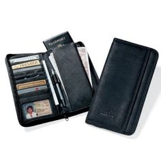 - Business travelers appreciate our zippered travel case - Organizes tickets, passport, credit cards, business cards and ID - Pen loop (pen optional)