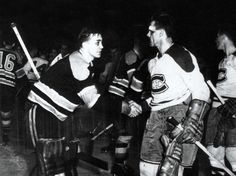 The biggest rivalry in hockey will add its chapter when the Montreal Canadiens and Boston Bruins faceoff Thursday night. No two teams have played each other more in the playoffs ever games) and Montreal has won seven Cups against Boston. Montreal Canadiens, Hockey Games, Ice Hockey, Maurice Richard, Eyes On The Prize, Los Angeles Kings, Iconic Photos, Sports Pictures, Boston Bruins