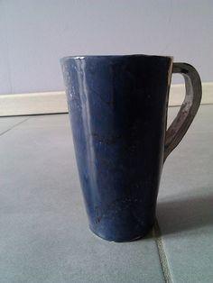 tazze mug fatte a mano blu 2 pezzi di TRACCEBOTTEGAARTIGIA su Etsy