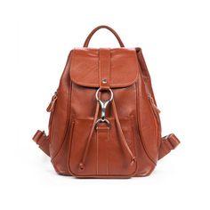 mochilas de cuero natural estudiantes