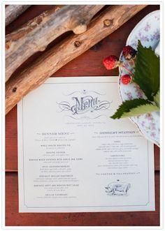 custom-designed menus
