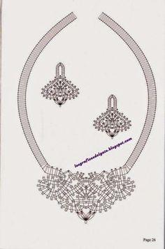Patrones para realizar collares y pendientes en bolillos... Bobbin Lace Patterns, Crochet, Embroidery Designs, Engagement Rings, Diamond, Bracelets, Silver, Image, Jewelry
