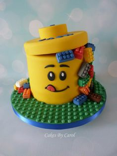 Lego theme Cake by Cakes by Carol, Peterborough, UK. You'll find this Cake Appreciation Society Member in our Directory at www.cakeappreciationsociety.com