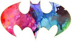 paint splatter batman symbol tattoo idea