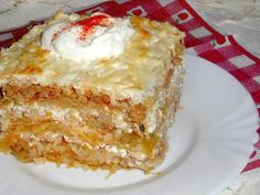 Érdekel a receptje? Kattints a képre! Slovak Recipes, Hungarian Recipes, Pork Recipes, Cake Recipes, Cooking Recipes, Hungarian Cuisine, Vegetable Casserole, Good Food, Yummy Food