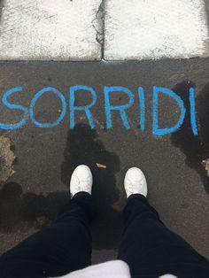 Via Osoppo, Milan 2016 #smile #sorridi #fromwhereistand #ihavethisthingwithfloors #milano #picoftheday #selfeet #blackpants #whiteshoes